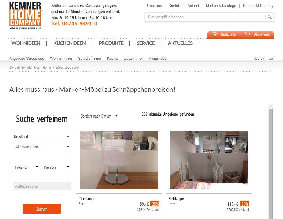kemner home company setzt auf das abverkaufstool der trendview trendview agentur f r online. Black Bedroom Furniture Sets. Home Design Ideas