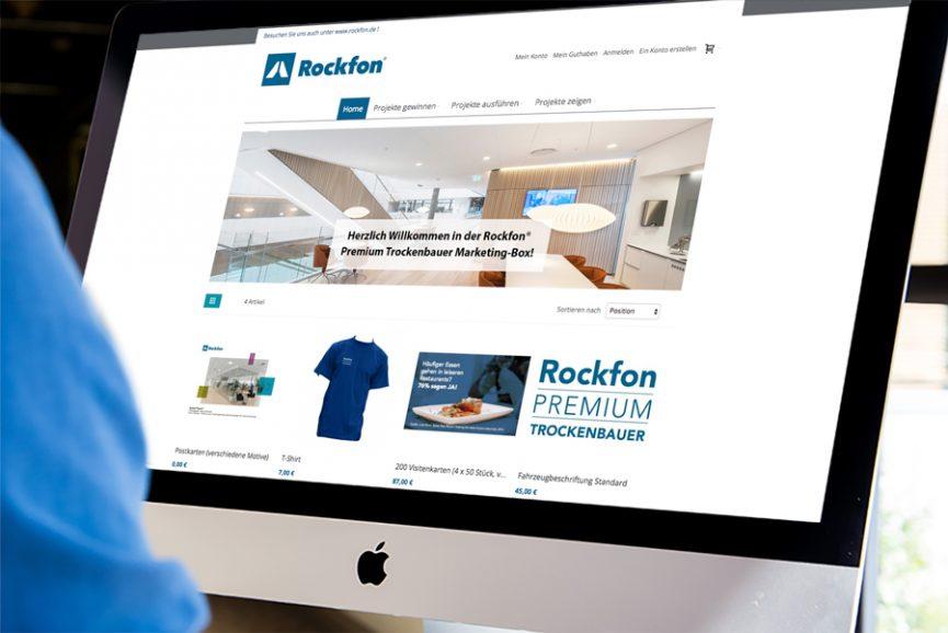 Rockfon – Entwicklung eines Onlineshops für den B2B-Bereich